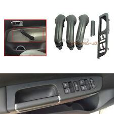 NEW 5Pc Black Interior Door Grab Handle Cover Switch Bezel For VW Jetta Golf MK4