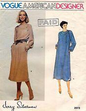 70's VTG VOGUE Misses' Dress Jerry Silverman Pattern 2073 10 UNC