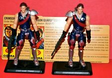 GI JOE 25TH TOMAX & XAMOT COBRA CRIMSON GUARD COMMANDERS  LOOSE COMPLETE