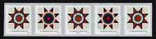 USA, SCOTT # 5098-5099, STRIP OF 5 PNC #B11111 STAR QUILTS PRESORTED FIRST CLASS