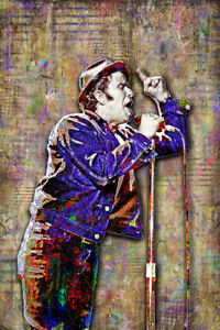 TOM WAITS 20x30in Poster Tom Waits Tribute Tom Waits Music Art Free Shipping
