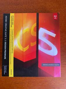 Adobe Design Premium CS5.5  Genuine Never Used Retail Box Windows 7-10