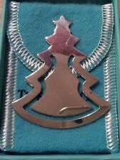 Vintage And Rare Tiffany & Co Sterling Silver Christmas Tree Book Mark