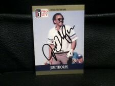 JIM THROPE 1990 PROSET AUTOGRAPHED CARD