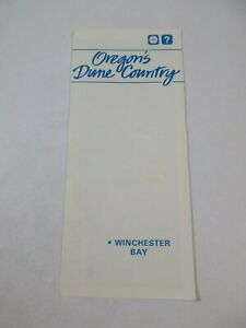 1985 Oregon Dune Country Winchester Bay Travel Guide Map Brochure~BR3