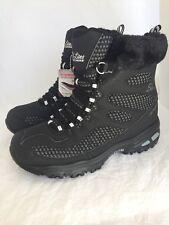 SKECHERS D'LITES Snow Plaza Black Mid Calf Winter Boots Women's Size 8.5