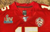 Patrick Mahomes #15 KC Chiefs Red Super Bowl 54 Jersey XL
