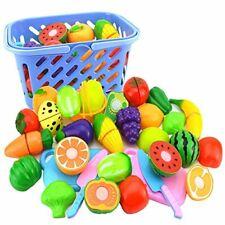 Conjunto de alimentos niwwin Juego Para Niños, haz de juguete de corte de alimentos verduras y frutas -