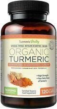 Turmeric Vitality Organic Turmeric Curcumin Capsules 1420mg High Strength Servin