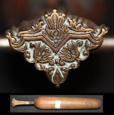 Superbe Fer à Dorer Modèle Derôme  Bronze relieur reliure #124