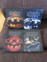 Batman 1989 4 Movie Blu-Ray (Region Free) Steelbook Set Returns Robin Forever