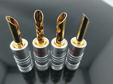 2 pair Choseal Q 907 Audio Speaker Banana Plug Connector 24K HIFI #M2927 QL