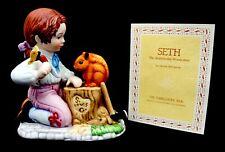 Franklin Porcelain Debbie Bell Jarrett Seth Painted Porcelain Figurine B8739 Eo
