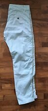 Zara Drop Crotch trousers chinos In Pale Mint With Gold Side Piping - uk10