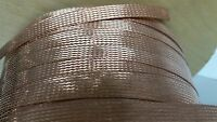 250 FEET 1/2 BRAIDED GROUND STRAP GROUNDING BARE PURE COPPER FLAT BRAID IN USA