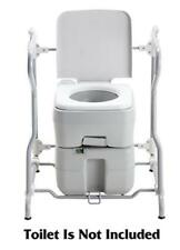 Portable Camping Chemical Toilet Frame With Armrest 20l 10l Camp RV Caravan