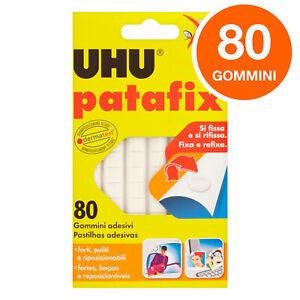 UHU Patafix Gomma Adesiva Removibile Riutilizzabile Confezione da 80 Gommini