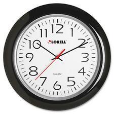 "Lorell Wall Clock, 13-1/4"", Arabic Numerals, Black Frame 60989"