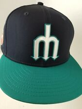Men s Seattle Mariners New Era Navy Teal Trident Diamond Era 59FIFTY Fitted  Hat d84f95175ff3
