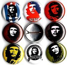 Che Guevara 8 NEW button pin badges marxist rebel castro communist logo