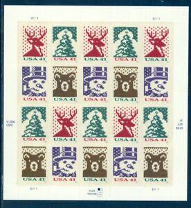 US 4210 Christmas, sheet/20, Mint NH, Free Shipping