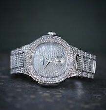 White Gold Luxury Hip Hop Men's Big Face Watch