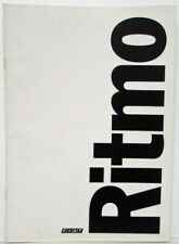 1979 Fiat Ritmo Matte Paper Black Fiat Logo Sales Brochure - German Text