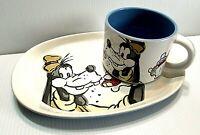 Disney Store Goofy Sandwich & Mug Plate Soup Cup Salad Set VERY RARE Vintage