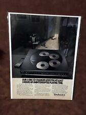 """1990  """"Uninterrupted Playing Time""""  Technics Stereo CD Player Print Ad"""