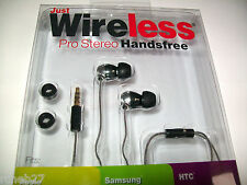 * JUST WIRELESS PRO STEREO HANDSFREE for APPLE, SAMSUNG, HTC, BLACKBERRY & MORE.