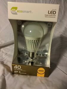 Ecosmart 9w Bright White Dimmable A19  LED Bulbs 40w Equivalent