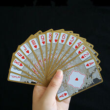 Waterproof Transparent PVC Poker Gold Edge Playing Cards Dragon Card Novelty*