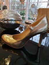 EVITA Pumps Sandaletten Peeptoes GOLD ECHT Leder  Gr. 42 Neu