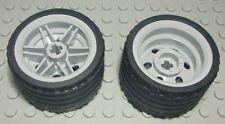 Lego 6014bc01 # 24 x Reifen Räder Rad 11mmD.x12mm  Felge weiß 7898 7945
