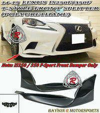 T-Style Front Lip Splitters Fits 14-16 Lexus IS200t IS250 IS350 [F-Sport Only]