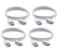 4x USB Sync Data Charging Charger Cable Cord fit iPhone 4 4S 3G iPod nano 30 pin