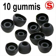 10 Ersatz Gummis für Ear Headsets Kopfhörer Ohrhörer SILIKON SCHWARZ GRÖSSE S