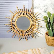 Sass & Belle - Rattan Starburst Mirror 50 Cm Boho Home Decor