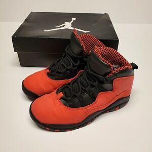 Air Jordan Retro 10 PS Fusion Red Size 1Y Girls Unisex Kids Boys