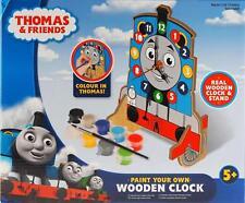 Thomas the Tank Engine Pintura Su Propio Reloj De Madera