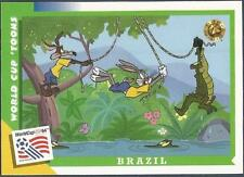 UPPER DECK WORLD CUP USA 1994-LOONEY TOONS- #026-BRAZIL