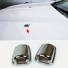 Chrome Front Hood Bonnet Spray Nozzle Cover Trim For Ford Escape Kuga 2013-2016