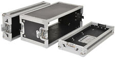 CITRONIC 19'' 4U equipment flightcase 4U (shallow) Rack Mixer CD DJ Disco NEW