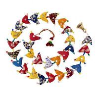 Fair Trade 30-Bird Bell Tota Traditional Indian Hanging Decoration, Recycled