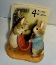 The World of Beatrix Potter 4 Little Rabbits Figures Benjamin Bunny&Peter Rabbit