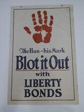 World War I Vintage Poster for War Bonds