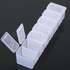 7 Day Weekly Clear Pills Dispenser Holder Organizer Boxes Medicine Tablet Case