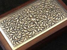 Coffret Argent et Bois Indochine Antique Chinese Box Silver Boîte