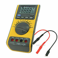 Digital Multimeter Voltmeter Thermometer Ohm USB CD Frequency Resistance Diode