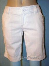 New Aeropostale Junior Girls White Cotton Uniform Bermuda Shorts 3/4